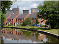 SK0616 : New canalside housing near Brereton, Staffordshire by Roger  Kidd