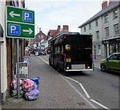 SO3014 : One thousand parking spaces ahead, Cross Street, Abergavenny by Jaggery