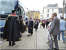 SP0202 : Royal Agricultural University Graduation Day outside St John the Baptist Church, Cirencester by Vieve Forward