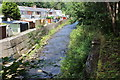 SO2102 : Ebbw Fach River behind Woodland Terrace, Aberbeeg by M J Roscoe