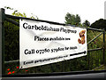 TM0080 : Garboldisham Playgroup sign by Adrian Cable