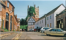 SO8832 : Tewkesbury 1995: Mill Street and the Abbey by Ben Brooksbank
