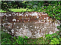 NY4459 : Inscription on Low Crosby Bridge by Rose and Trev Clough