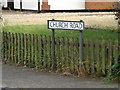 TM0382 : Church Road sign by Adrian Cable