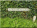TM0383 : Kings Head Lane sign by Adrian Cable