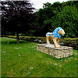 SZ0891 : Bournemouth Lion near the Town Hall - front view by Jaggery