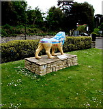 SZ0891 : Bournemouth Lion near the Town Hall - rear view by Jaggery
