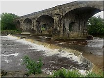 NY7063 : Alston Arches Viaduct crossing the River South Tyne, Haltwhistle by Graham Robson