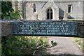 SE8467 : St Nicholas' Church: dedication on church gates by Bob Harvey