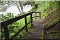 NT8844 : Boardwalk and steps opposite Kippie Island by Jim Barton
