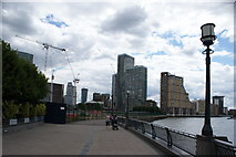 TQ3680 : View of buildings in Canary Wharf from Canary Riverside #2 by Robert Lamb