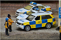 SX9265 : Torquay : Babbacombe Model Village - Police Cars by Lewis Clarke