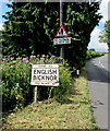 SO5816 : English Bicknor boundary sign by Jaggery