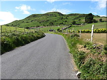 J3034 : View northwestwards along Lackan Road by Eric Jones