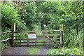 SN6121 : Entrance to Castle Woods Nature Reserve, Dinefwr Park by M J Roscoe