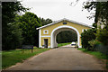 TQ1352 : Entrance to Polesden Lacey by Peter Trimming