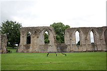 ST5038 : Site of the high altar, Glastonbury Abbey by Bill Harrison