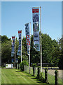 TM0587 : Banham Zoo Flags by Adrian Cable