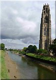 TF3244 : The 'Boston Stump' by the River Witham by Tim Heaton