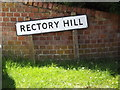 TM0375 : Rectory Hill sign by Adrian Cable