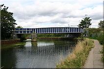 TQ3783 : Bridge carrying Bow Goods branch by David Kemp