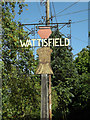 TM0174 : Wattisfield Village sign by Adrian Cable