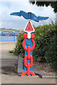TQ7469 : National Cycle Network Milepost, Canal Road by Oast House Archive