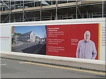 NT9953 : Hoarding, new offices construction site, Walkergate, Berwick-upon-Tweed by Graham Robson