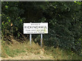 TM0376 : Rickinghall Village Name sign on School Road by Adrian Cable
