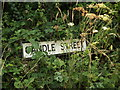 TM0474 : Candle Street Village Name sign on Kiln Farm Lane by Adrian Cable