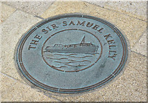 J5980 : Sir Samuel Kelly ground plaque, Donaghadee (August 2016) by Albert Bridge