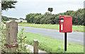 J5583 : Pressed-steel postbox (BT19 100), Balloo Lower, Groomsport (August 2016) by Albert Bridge