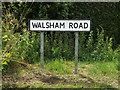 TM0073 : Walsham Road sign by Geographer
