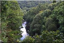 SH7357 : Afon Llugwy below Cyfyng Falls by David Martin