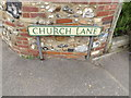 TL9874 : Church Lane sign by Adrian Cable