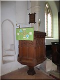 TM2692 : St. Margaret, Topcroft: pulpit by Basher Eyre