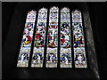 TG2308 : Norwich Cathedral: stained glass window (3) by Basher Eyre
