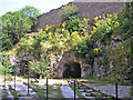 SD9764 : Threshfield Quarry lime kilns by John Illingworth