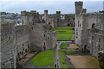 SH4762 : Caernarfon Castle from the Eagle Tower by David Martin