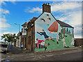 NH7168 : Mural - 'A Century Of Sport' by Richard Dorrell