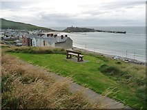 SC2484 : Bench with a view of Peel Bay, near to low tide by Christine Johnstone