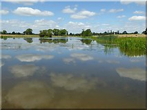SO8843 : Clouds reflected in Croome River by Philip Halling