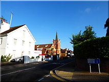 TQ1289 : Pinner Baptist Church: mid August 2016 by Basher Eyre