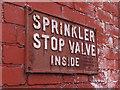 SE3035 : Sprinkler valve sign by Stephen Craven