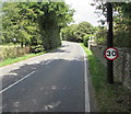 SO7803 : 30mph speed limit sign, Bath Road, Frocester by Jaggery