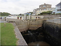 SS2006 : Lock gates, Bude Canal by Roger Cornfoot