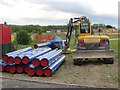 SU4886 : Water Pipes on Site by Bill Nicholls