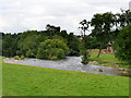 NY5329 : Confluence of Rivers Eamont and Lowther near Brougham Castle by David Dixon
