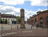 SJ9399 : Market Street Clock by Gerald England