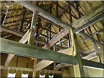 TQ1876 : The structure of the roof of the Minka House, Kew Gardens by David Smith